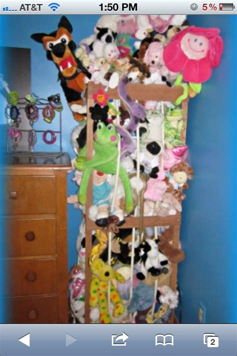 stuffed animal holder girly things pinterest