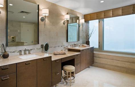 Modern Bathroom Makeup Vanity Bohemian Makeup Vanity Designs With Accent Lights