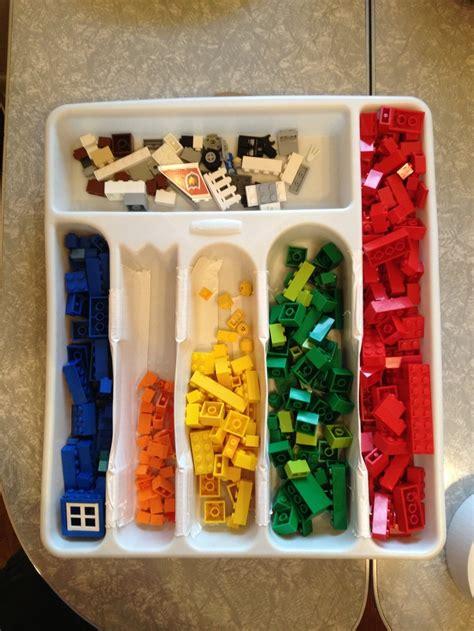 Lego Desk Organizer Recycled Silverware Organizer Becomes Lego Organizer For Desk Drawer Pinterest