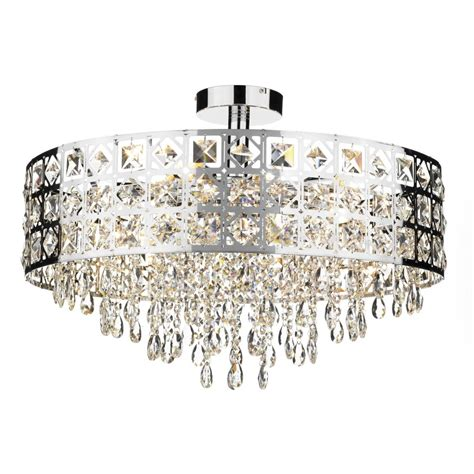 Chandeliers For Low Ceilings Large Modern Laser Cut Semi Flush Fitting Circular Chandelier