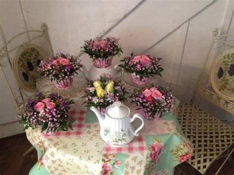 denise thompson workshop tea party flowers on wednesday