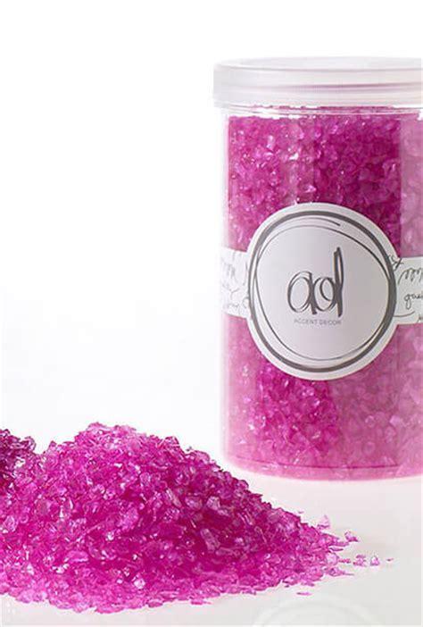 Crushed Glass 2 4mm, 46oz, Hot Pink Vase Fillers