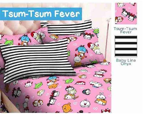 Sprei Tsum Tsum In detail produk sprei dan bedcover tsum tsum fever pink