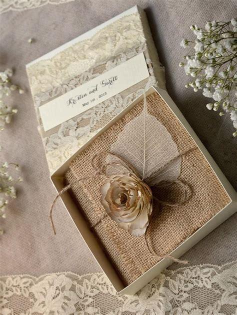 lace burlap wedding invitations 10 vintage wedding