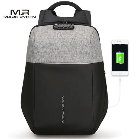 Tas Anti Maling Anti Thelypteridaceae Backpack ryden tas ransel anti maling dengan usb charger port mr6768 gray black