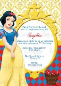 snow white printable birthday invitation