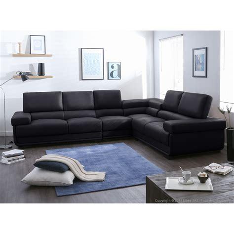 canapé droit salon avec canape noir