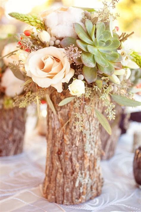 tree stump center pieces wood crafts re dos pinterest