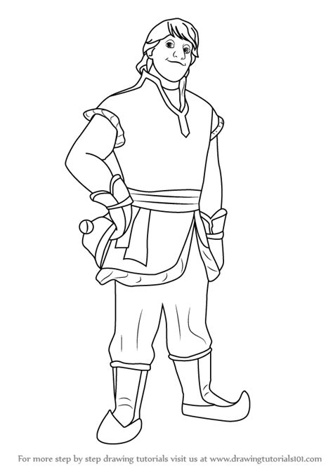 frozen coloring pages kristoff step by step how to draw kristoff from frozen