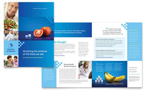 Dietitian Brochure Template Design Science Newsletter Template