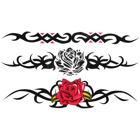 tatouage temporaire rose tribal tempo tattoo