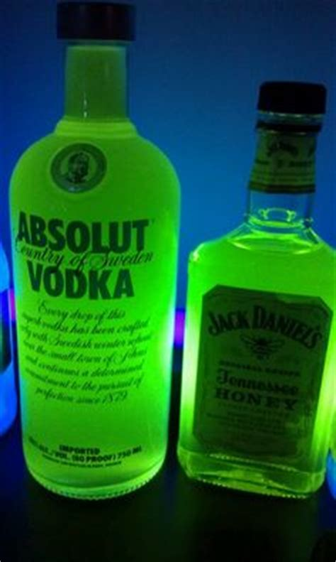 vodka tonic blacklight black light shull pick a cool glass bottle i used