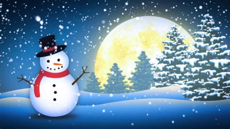 winter snow man by fxboxx videohive