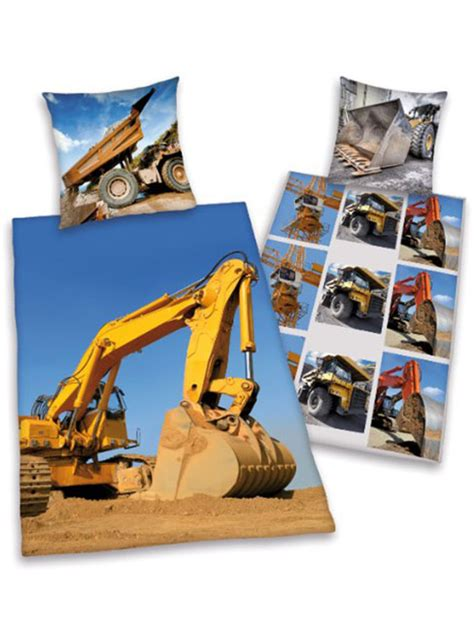 Digger Duvet Cover Jcb Digger Single Reversible Duvet Cover Bedding Set