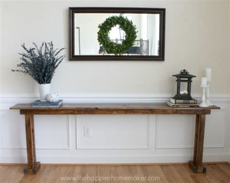 build a console table diy console table for 20 the happier homemaker