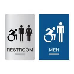 new york ada restroom signs new york braille bathroom signs