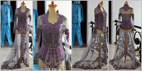 Kebaya Pengantin Ekor Tille Hitam Jual Kebaya Pengantin Ekor Nikah Pre Wedding Tile Brokat
