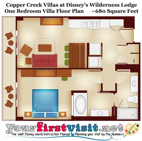 wilderness lodge villas floor plan copper creek villas at disney s wilderness lodge