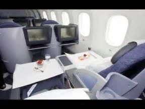 Thomson Airways Interior United Boeing 787 Dreamliner First Class Cabin Youtube