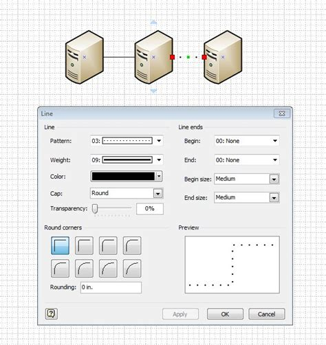 line pattern in visio microsoft visio what is the shape name if it exists