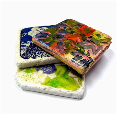 cool coasters resin crafts glazing tiles with envirotex lite to make