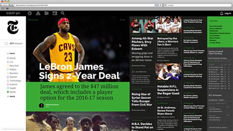 new york times sports section the new york times web design on pantone canvas gallery