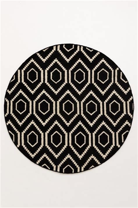 black and white circle rug handwoven nevali rug black white contemporary rugs by anthropologie