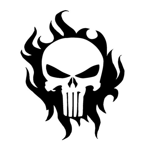 punisher skull die cut vinyl decal pv car truck