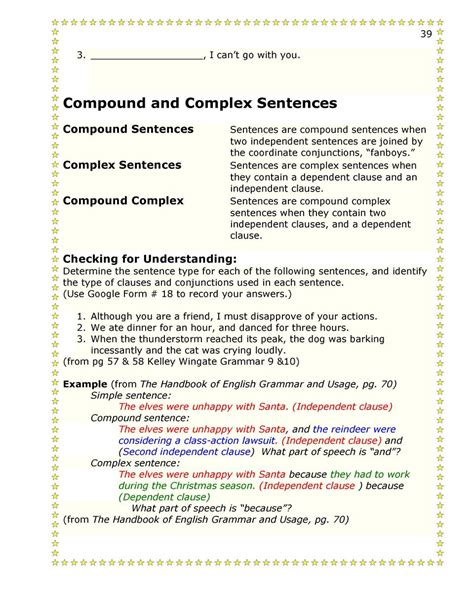 sentence pattern quiz printable sentence patterns worksheets for grade 7 basic sentence
