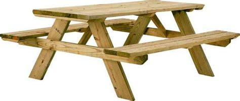 Wood Picnic Table Kit by Universal Forest 106116 6 Foot Wooden Picnic Table Kit At
