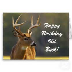 hunting funny buck animal camo happy birthday 3 greeting