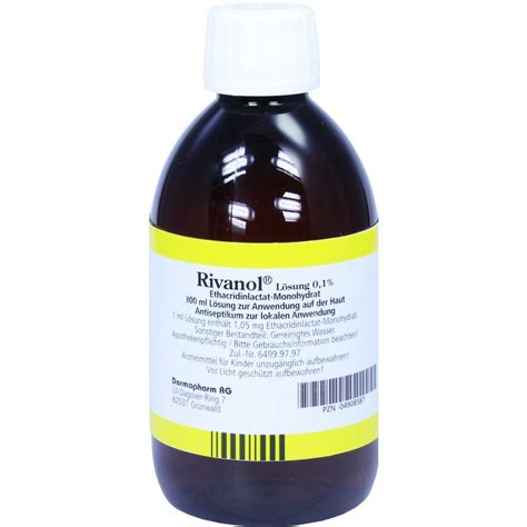 Rivanol 0 1 100 Ml rivanol l 246 sung 0 1 300 ml