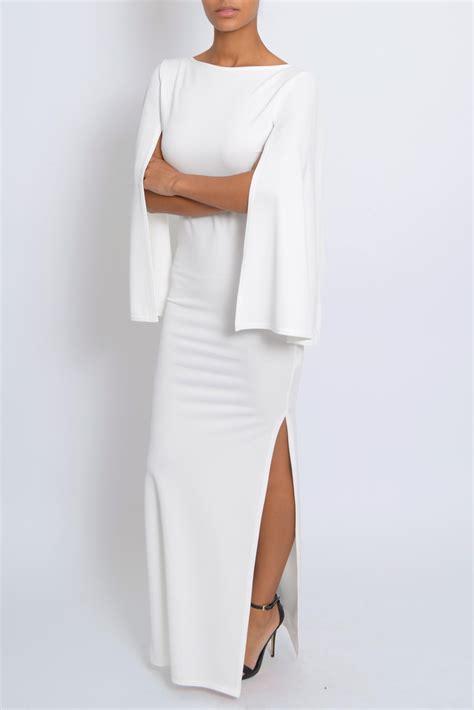 Dress Cape Sleeve 1 lewis white cape sleeve maxi dress tique a bou
