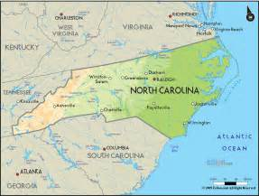 geographical map of carolina and carolina