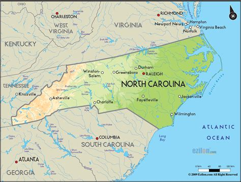 map of of carolina carolina map free large images