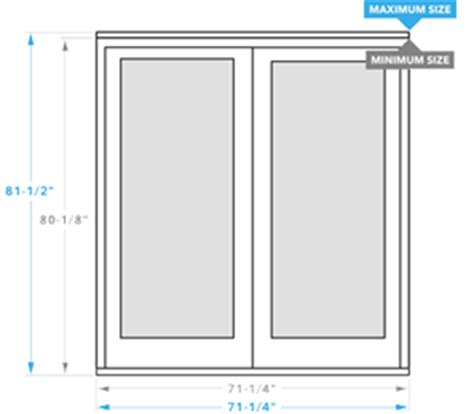 Patio Door Measurements Pella 450 Series Sliding Patio Door Pella