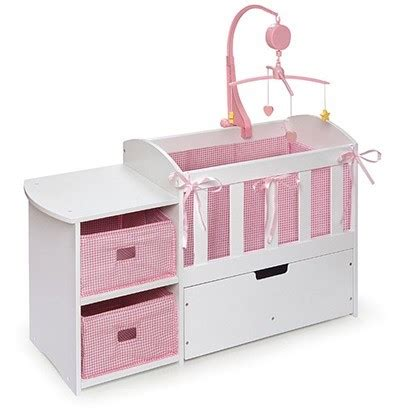 baby alive changing table doll crib with changing table