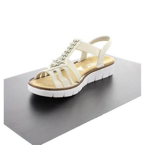 white sandals rieker rieker 60061 80 white sandal rieker from rieker uk