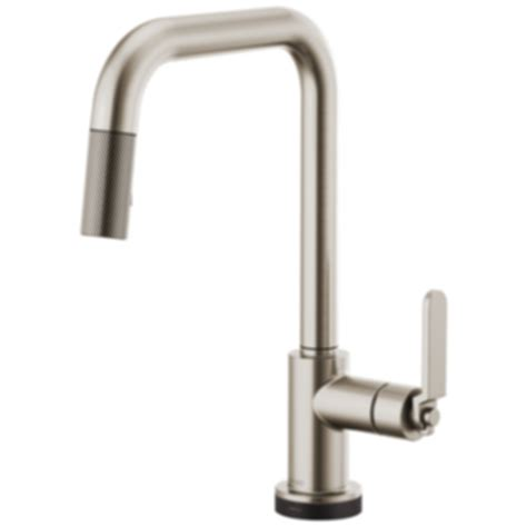 Articulating Kitchen Faucet Litze Smarttouch 174 Pull Down Faucet With Square Spout And