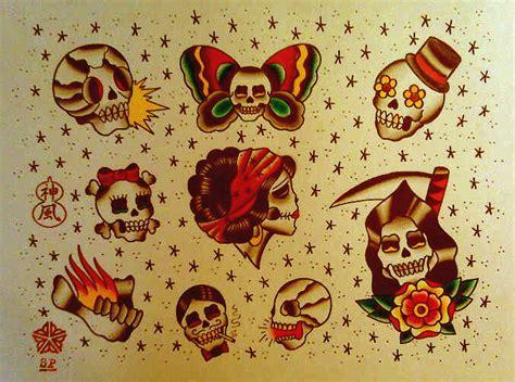 tattoo flash traditional skull traditional american tattoos sara purr tattoo page 16