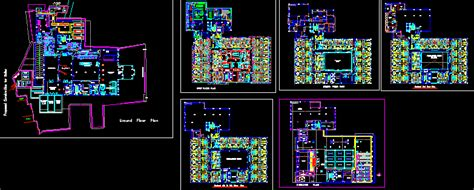 hotel   storeys  dwg design plan  autocad