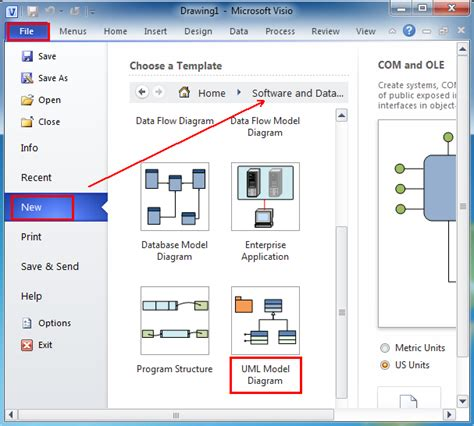 visio for uml where is the uml model diagram in microsoft visio 2010 and