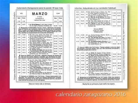 Calendario Zaragozano Territorio Calendario Zaragozano Marzo 2016