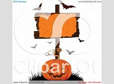 Clipart of a Carved Halloween Jackolantern Pumpkin Under a ... About:blank Free Halloween Clipart