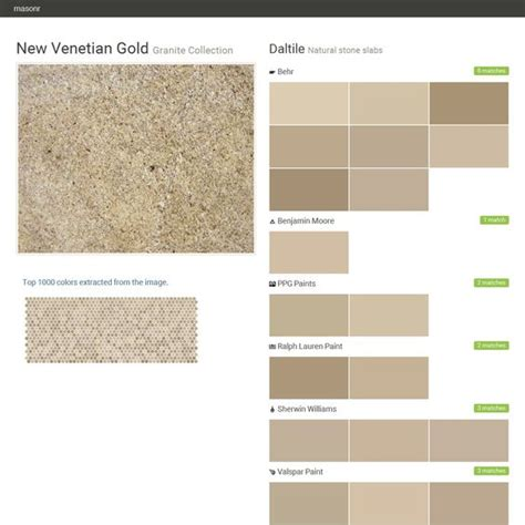 new venetian gold granite collection slabs daltile behr benjamin ppg