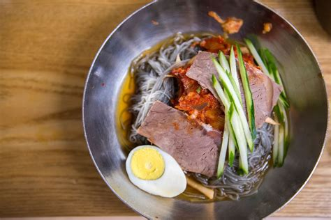 korean cold noodle soup mul naengmyeon recipe