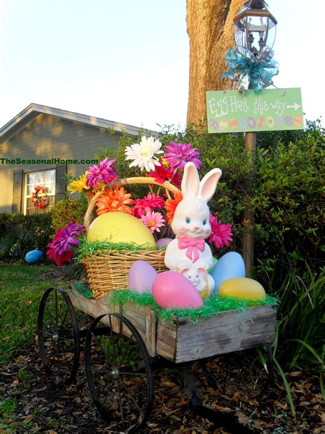 outdoor yard decorating ideas a springy easter yard 171 the seasonal home