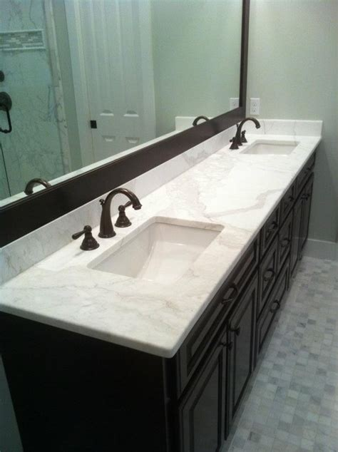 Countertops For Bathroom Vanities Calacatta Gold Marble Vanity Contemporary Vanity Tops And Side Splashes Atlanta By Cr