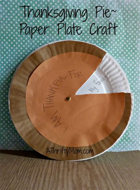 How To Make A Paper Pie - thanksgiving pie paper plate craft
