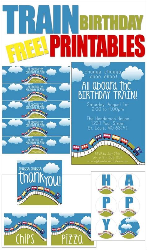 printable train party decorations train themed birthday party with free printables themed